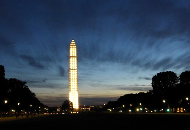 1Washington Monument's New Look + Venus