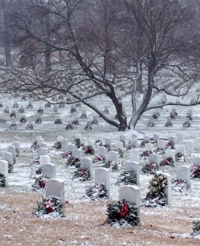 Arlington Cemetery with Snow