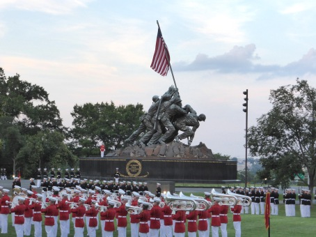 Iwo Jima with band