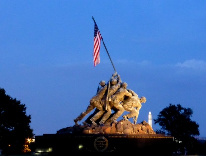 Iwo Jima with WA monument