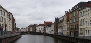Canal and Street in Bruges