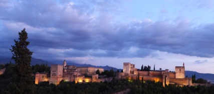 Alhambra at sunset 1